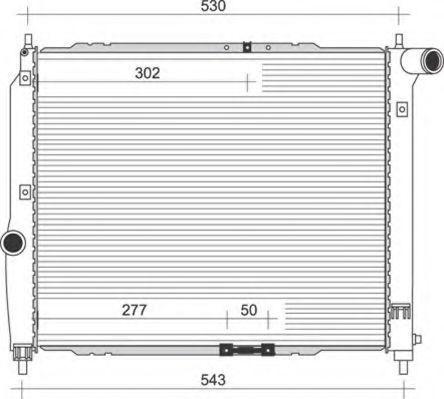 Радиатор, охлаждение двигателя MAGNETI MARELLI 350213891000