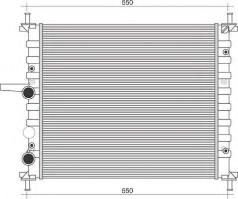 Радиатор, охлаждение двигателя MAGNETI MARELLI 350213895000