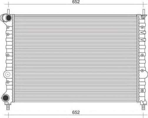 Радиатор, охлаждение двигателя MAGNETI MARELLI 350213896000