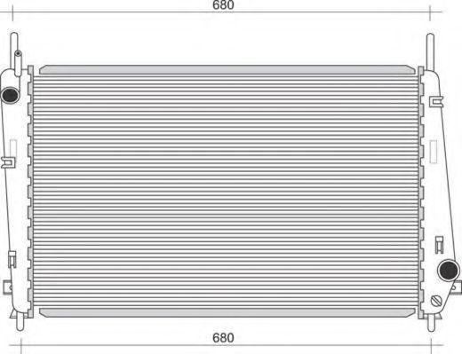 Радиатор, охлаждение двигателя MAGNETI MARELLI 350213911000