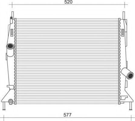 Радиатор, охлаждение двигателя MAGNETI MARELLI 350213921000