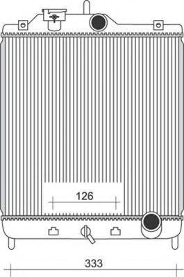 Радиатор, охлаждение двигателя MAGNETI MARELLI 350213927000