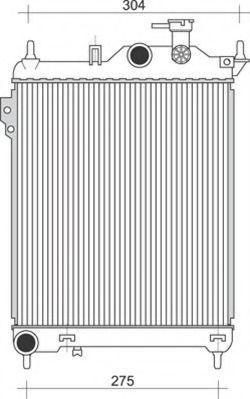 Радиатор, охлаждение двигателя MAGNETI MARELLI 350213934000