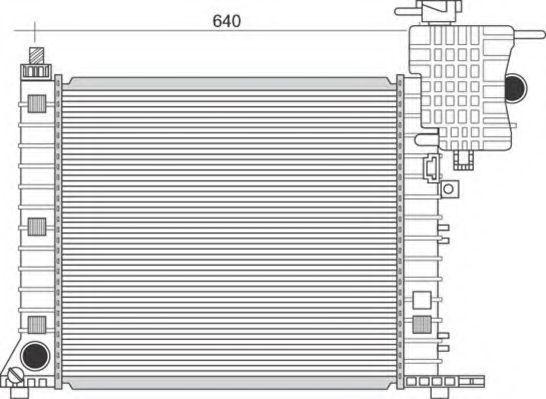 Радиатор, охлаждение двигателя MAGNETI MARELLI 350213948000