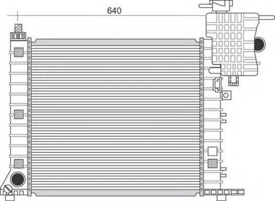 Радиатор, охлаждение двигателя MAGNETI MARELLI 350213950000
