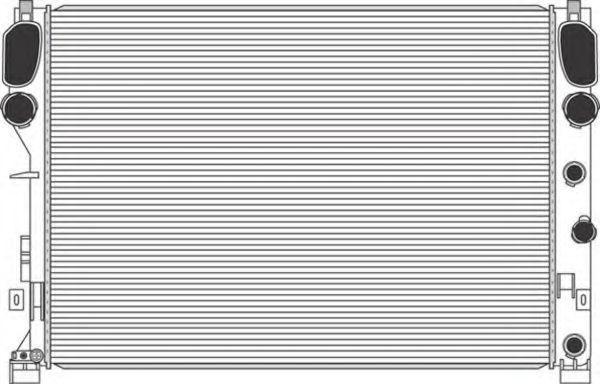 Радиатор, охлаждение двигателя MAGNETI MARELLI 350213953000