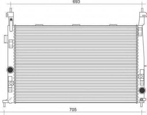 Радиатор, охлаждение двигателя MAGNETI MARELLI 350213971000