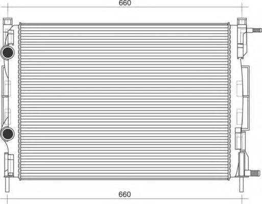 Радиатор, охлаждение двигателя MAGNETI MARELLI 350213998000