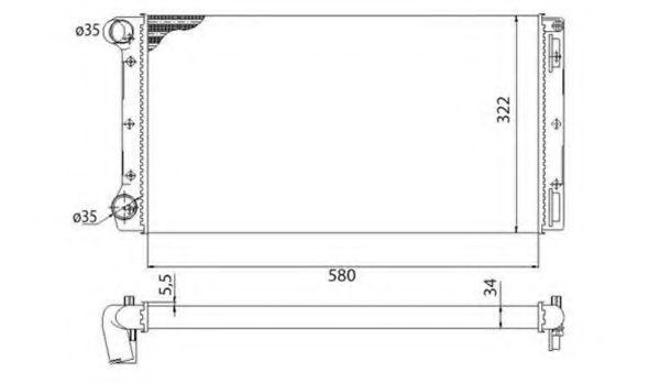Радиатор охлаждения MAGNETI MARELLI 350 21 317 200 3