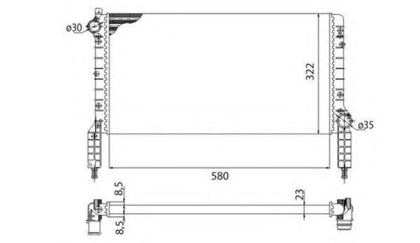 Радиатор охлаждения MAGNETI MARELLI 350213180003