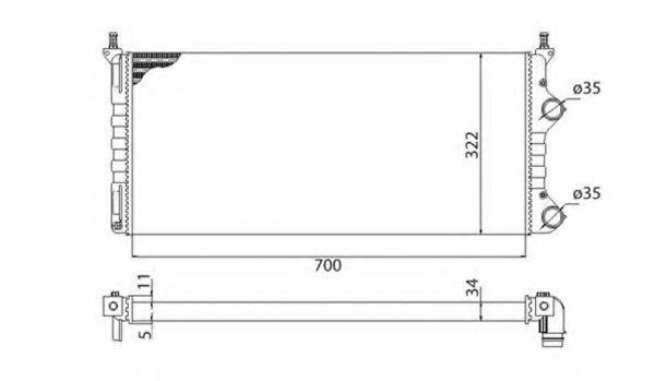 Радиатор охлаждения MAGNETI MARELLI 350213192003