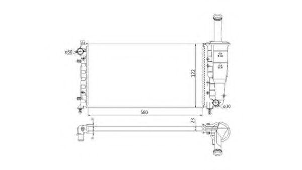 Радиатор охлаждения MAGNETI MARELLI 350213196003