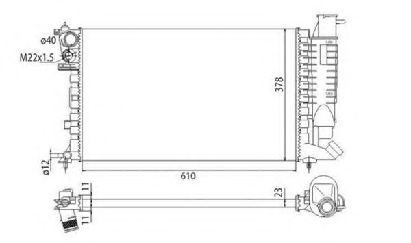 Радиатор охлаждения MAGNETI MARELLI 350 21 331 100 3