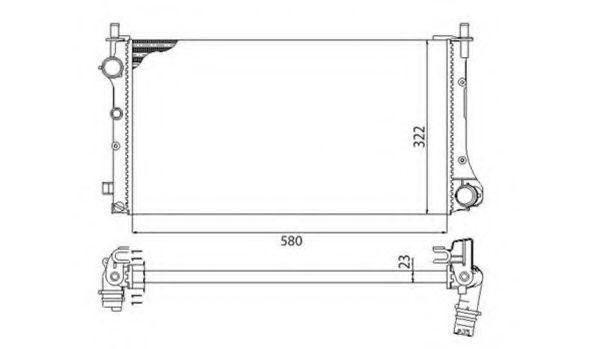 Радиатор охлаждения MAGNETI MARELLI 350213382003
