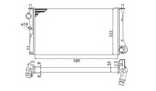 Радиатор охлаждения MAGNETI MARELLI 350213383003