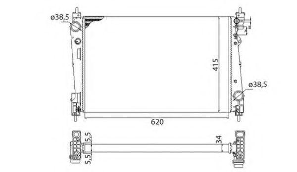 Радиатор охлаждения MAGNETI MARELLI 350213386003