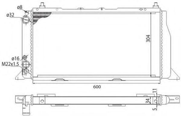 Радиатор охлаждения MAGNETI MARELLI 350213406003