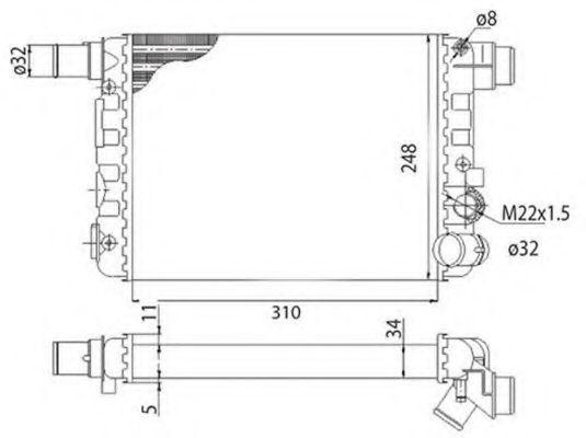 Радиатор охлаждения MAGNETI MARELLI 350213500003