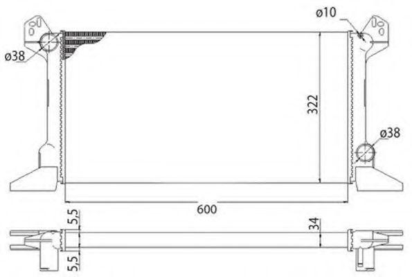 Радиатор охлаждения основной MAGNETI MARELLI 350 21 351 300 3
