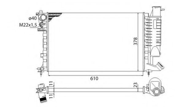 Радиатор охлаждения MAGNETI MARELLI 350213522003