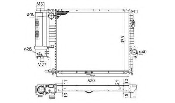 Радиатор охлаждения MAGNETI MARELLI 350213693003