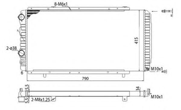 Радиатор охлаждения MAGNETI MARELLI 350 21 370 700 3