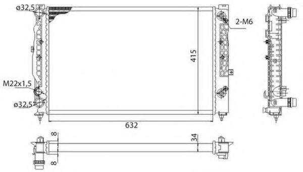 Радиатор охлаждения MAGNETI MARELLI 350 21 373 900 3