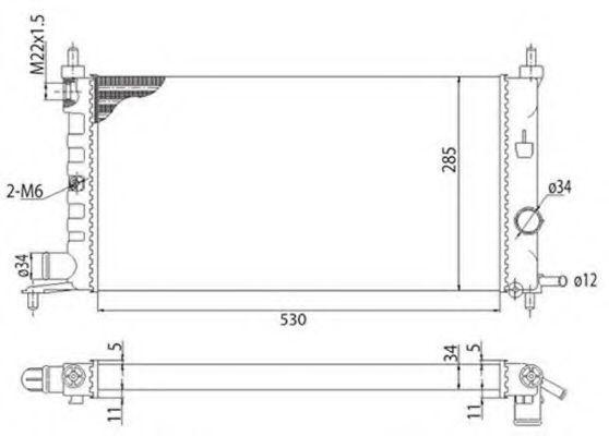 Радиатор охлаждения MAGNETI MARELLI 350213775003