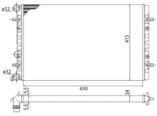 Радиатор, охлаждение двигателя MAGNETI MARELLI 350213803003