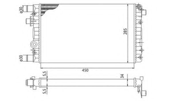 Радиатор охлаждения MAGNETI MARELLI 350213815003