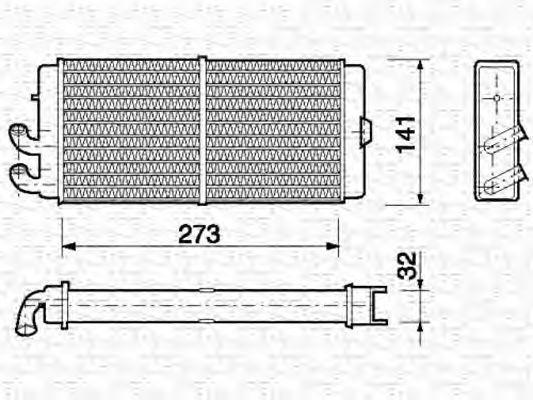 Радиатор отопителя MAGNETI MARELLI 350218150000