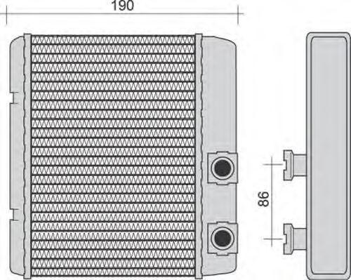 Теплообменник, отопление салона MAGNETI MARELLI 350218252000
