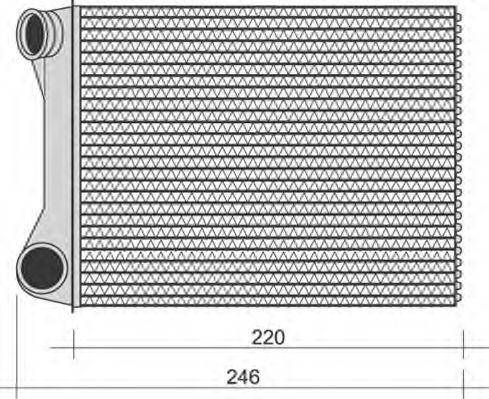 Теплообменник, отопление салона MAGNETI MARELLI 350218268000