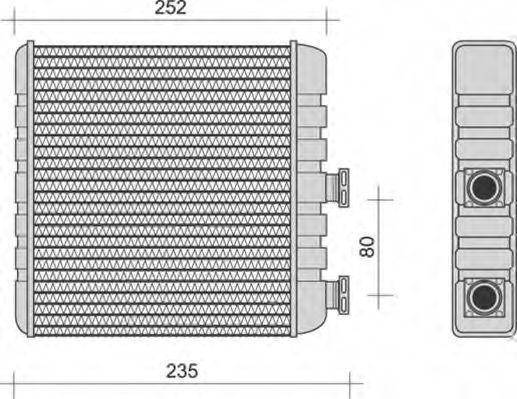 Теплообменник, отопление салона MAGNETI MARELLI 350218270000