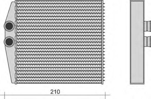 Теплообменник, отопление салона MAGNETI MARELLI 350218271000