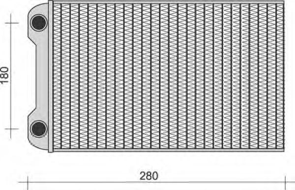 Теплообменник, отопление салона MAGNETI MARELLI 350218280000