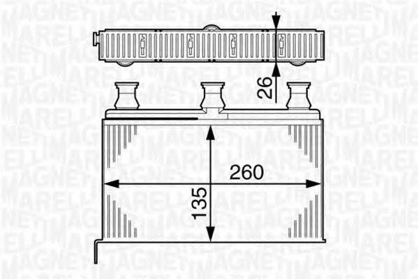 Теплообменник, отопление салона MAGNETI MARELLI 350218281000