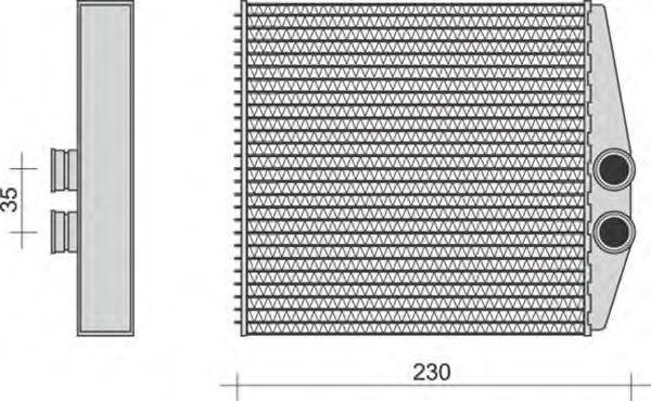 Теплообменник, отопление салона MAGNETI MARELLI 350218283000