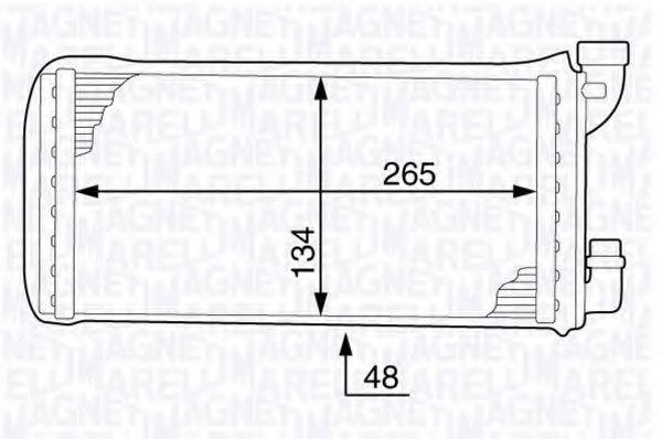 Теплообменник, отопление салона MAGNETI MARELLI 350218341000