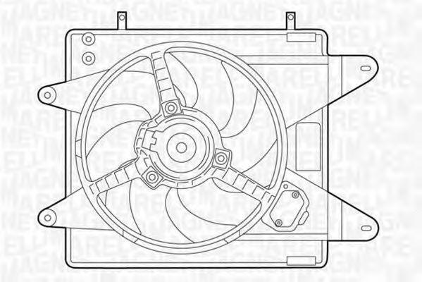 Вентилятор охлаждения двигателя MAGNETI MARELLI 069 42 200 601 0