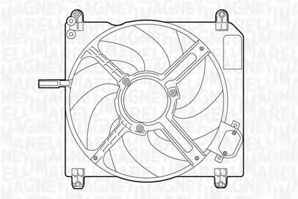 Вентилятор охлаждения двигателя MAGNETI MARELLI 069422007010