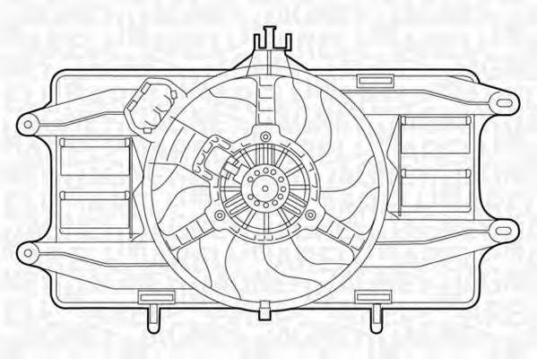 Вентилятор охлаждения двигателя MAGNETI MARELLI 069422024010