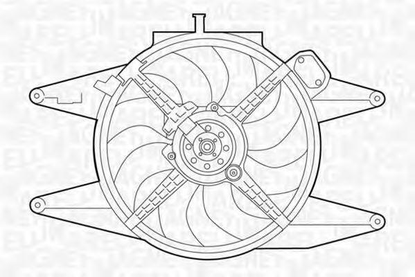 Вентилятор, охлаждение двигателя MAGNETI MARELLI 069422041010