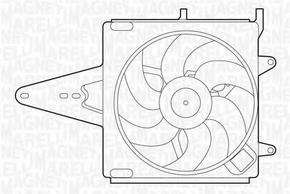 Вентилятор охлаждения двигателя MAGNETI MARELLI 069422202010