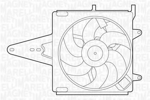 Вентилятор охлаждения двигателя MAGNETI MARELLI 069422203010