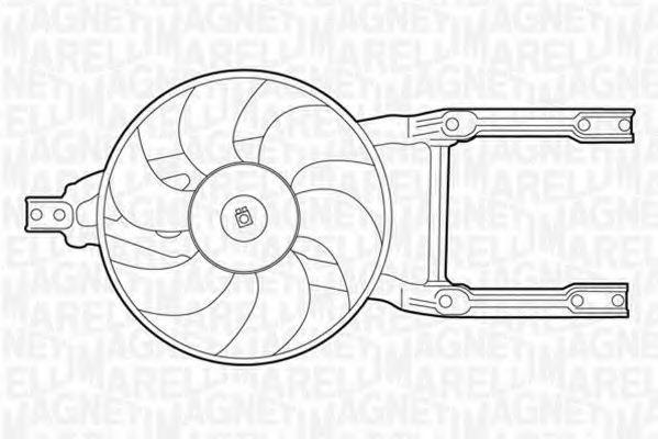 Вентилятор охлаждения двигателя MAGNETI MARELLI 069422204010