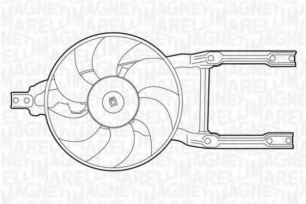 Вентилятор, охлаждение двигателя MAGNETI MARELLI 069422205010