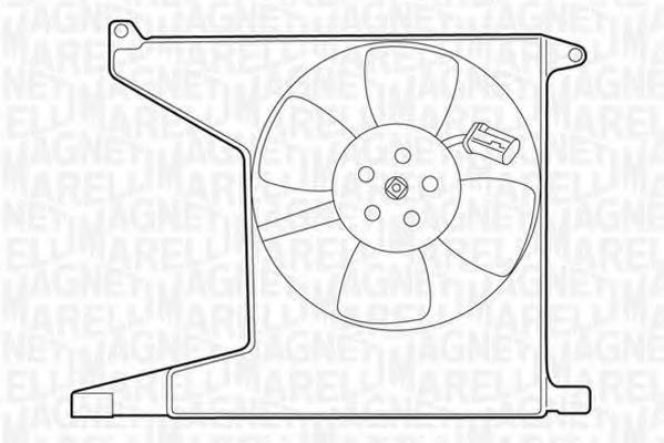 Вентилятор охлаждения двигателя MAGNETI MARELLI 069422208010