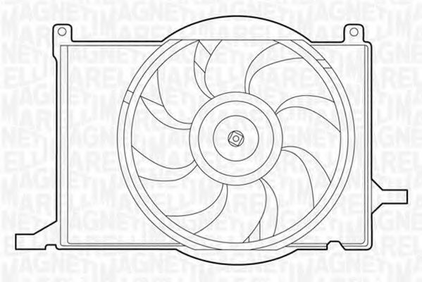 Вентилятор охлаждения двигателя MAGNETI MARELLI 069422209010