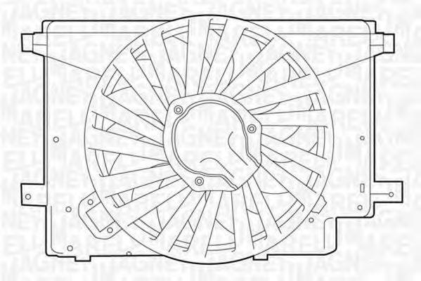 Вентилятор, охлаждение двигателя MAGNETI MARELLI 069422242010
